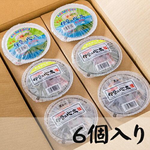 ところてん食べくらべセット丸カップ6ヶ入り(三杯酢プレ-ン、黒みつ、わさび)