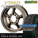 タイヤ ホイール 4本セット ファーム オリジナル J-TRAD マットブロンズ 16×5.5J/5H+20 トーヨー トランパス M/T 195/R16 ( toyo tires tranpath マッドテレイン )