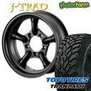 J-TRAD マットブラック 16×5.5J/5H-25 トーヨー トランパス M/T 195/R16 ( toyo tires tranpath マッドテレイン )