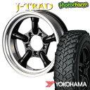 J-TRAD グロスブラック DCリム 16×5.5J/5H-25 ヨコハマ ジオランダー MT+ ワイルドトラクション 7.00R16 ( yokohama wild traction マッドテレイン )