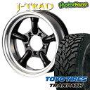 J-TRAD グロスブラック DCリム 16×5.5J/5H-25 トーヨー トランパス M/T 195/R16 ( toyo tires tranpath マッドテレイン )