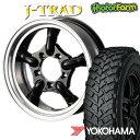 J-TRAD グロスブラック DCリム 16×5.5J/5H+20 ヨコハマ ジオランダー MT+ ワイルドトラクション 195R16 ( yokohama wild traction マッドテレイン )