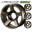 J-REVOLUTION マットブロンズ 16×5.5J/5H-25 4本set