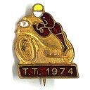 アイルオブマン T.T. 1974 ピンバッジ ISLE OF MAN T.T. 1974 Pin