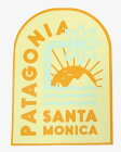 希少パタゴニアステッカーサンタモニカカリフォルニアスペシャルPATAGONIASANTAMONICACAシールデカールアメリカご当地非売品