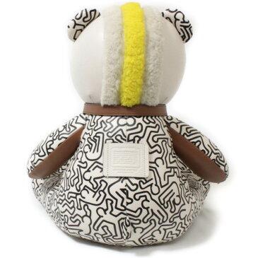 限定 コーチ × キースへリング コラボ レザー ベア ロッキー 白 F87102 COACH Keith Haring ぬいぐるみ 熊 テディベア ROCKEY 送料無料