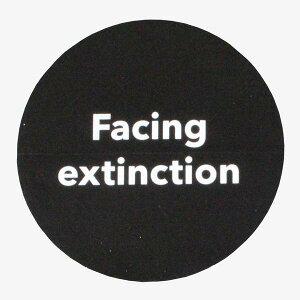 訳有 パタゴニア アクションワークス キャンペーン ステッカー Facing extinction PATAGONIA ACTION WORKS STICKER 非売品 円 丸 黒 シール