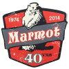 訳有マーモット四十周年記念ステッカーMARMOT40THANNIVERSARYSTICKER19742014シールネコポスマットキャンプコットネコポス