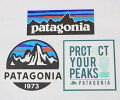 訳ありパタゴニアステッカー光沢3種セットPATAGONIAフィッツロイスコープP-6プロテクトユアピークスFITZROYシールSET新品