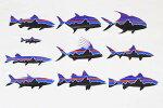 訳有パタゴニアフィッツロイフィッシュステッカー10種セットPATAGONIASET釣り魚トラウトGTボーンパーミットスヌークシール