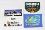 訳有パタゴニアステッカー3種セットPATAGONIASTICKERSSET原発NONUKESオースティンテキサスUSAリブシンプリー鯨シール新品