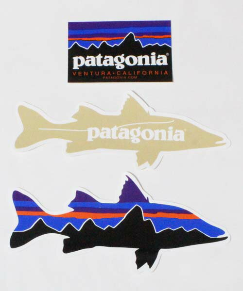 スポーツウェア・アクセサリー, その他  3 PATAGONIA STICKERS SET CA USA FITZROY