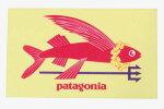訳ありパタゴニアトライデントフィッシュキャンペーンステッカーPatagoniaSURFWOMEN飛魚レイシール非売品稀少ネコポス新品