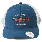 パタゴニアワールドトラウトブルックフィッシュステッチトラッカーハットPATAGONIAWorldTroutTruckerHatBSRB帽子キャップ釣