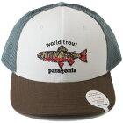 パタゴニアワールドトラウトブルックフィッシュステッチトラッカーハットPATAGONIAWorldTroutTruckerHatWHI帽子キャップ釣