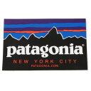 パタゴニア ニューヨーク シティ ステッカー PATAGONIA NEW YORK CITY NYC STICKER 新品 フィッツロイ ご当地 アメリカ USA NY シール 店舗限定 正規品 即納