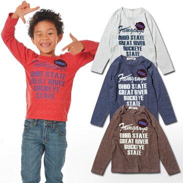 「341-12A」ワッペン付きロンT 男の子 ボーイズ ミリタリー 韓国 子供服 キッズ ジュニア スラブ