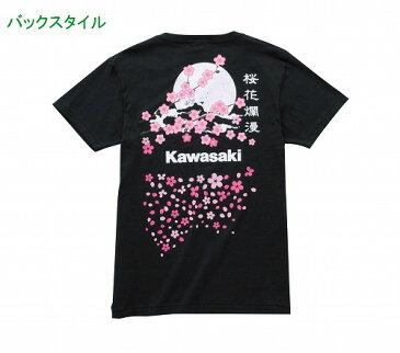 カワサキ/KAWASAKI桜満開Tシャツ/夜桜送料510円対応!