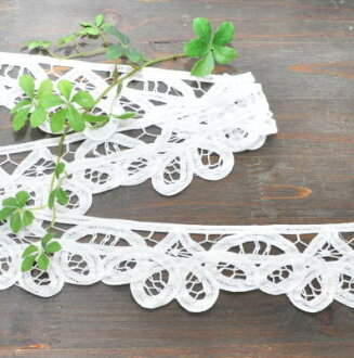 Lot of 5 ヤードバテン lace wide 6. 5 Cm width all 4 colors