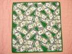 横浜最新 アメリカドル紙幣☆バンダナ 同梱4枚まで送料164円37
