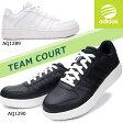 アディダス メンズスニーカー チームコート コートタイプ 天然皮革 ローカット AQ1289 AQ1290 adidas TEAM COURT