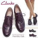 クラークス レディース本革シューズ ハンブルオーク 801F ウイングチップ レースアップ メダリオン レザー Clarks Hamble Oak