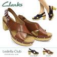 クラークス レディース サンダル レデラクラブ 830F 本革 厚底 バックバンド レザー Clarks Ledella Club