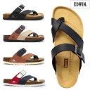 エドウィン コンフォートメンズサンダル EB1003 EDWIN 甲ベルト 紳士サンダル 素足 EDWIN INTERNATIONAL BASIC EB1003