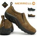 メレル メンズ 防水 ジャングルモック ゴアテックス スリップ オン 本革 ウォーキングシューズ MERRELL JUNGLE MOC GORE-TEX