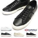 スペルガ スニーカー レザー S009VH0 2750 EFGLU メンズ レディース 白 黒 ユニセックス SUPERGA