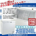 冷凍庫 冷凍ストッカー 冷凍ショーケース ガラス窓付き 業務用冷凍庫 冷蔵庫 大型 大容量240L 7段階調節 貯蔵 業務用 店舗用 ガラスストッカ WBST-250-G