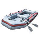 ゴムボート 3気室 構造 4人乗りゴムボート 海水浴 釣り オール2本セット236...
