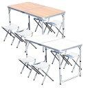 レジャーテーブル セット アウトドアテーブル ガーデンテーブ...