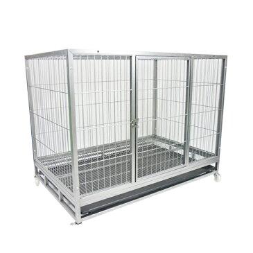 ペットケージ スチール製 キャスター付き LL 109×71×87cm 犬小屋 犬 ペットショップ 猫 ケージ ペットゲージ キャットケージ 用途に合わせて使える ゲージA307-new
