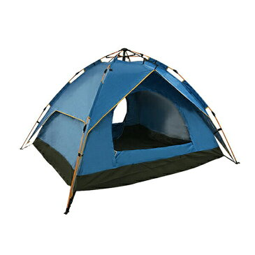 キャンプテント ワンタッチ式 ドーム型 4人用 2×2m 蚊帳付き アウトドアに最適 ソロキャンプにも 持ち上げるだけの10秒設置 テントZDZP水