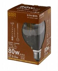 LED電球全方向長澤ライティングNagasawaLightingボール球形80W相当