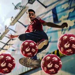サッカー モンタ ストリートサッカーボール 4.5号球  MONTA Red Shinji Freestyle No.5211045333 エアートリック/リフティング/フリースタイルサッカー