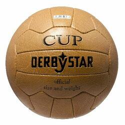 サッカー:ダービースターサッカーボール「DERBYSTAR」5号球NostalgieballCup復刻版ボール
