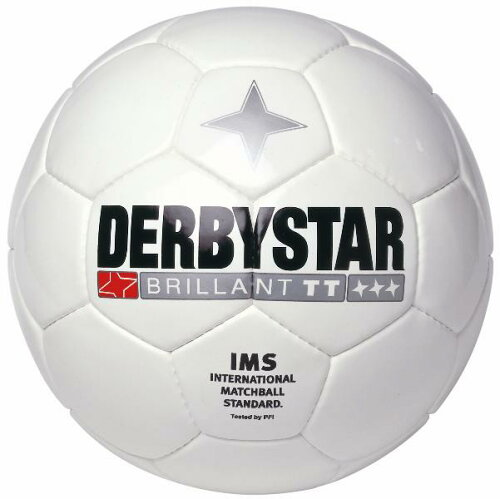 サッカー:ダービースター サッカーボール 4号球「DERBYSTAR」ブリリアントTT ホワイト BRILLANT T...