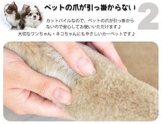 人気の秘密:ペットの爪が引っ掛からないカットパイル