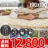 シャギー ラグ 北欧 洗える 190×190 夏用 ラグマット 日本製 (約2畳) 子供 部屋 床暖対応 ポリプロピレン100% 防ダニ ラグカーペット 洗濯機 ふわふわ じゅうたん オシャレインテリア 無地 正方形 抗菌 年中 シンプルシャギー(R-0152201)