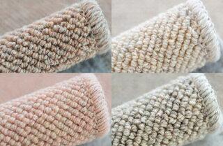 6帖カーペットウールラグの毛足はループのように1本1本太く長持ちできるカーペット6畳