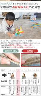 防ダニ/抗菌加工で赤ちゃんも安心安全。さらに日本製で赤ちゃんからお年寄りまで安心できるカーペット。