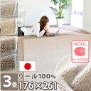 3畳 カーペット なかね家具 アレルギー対策 ウール 100% 床暖房対応 ラグ 絨毯 オールシーズ ...