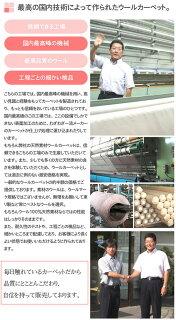天然素材ウールカーペット夏用オールシーズン対応カーペット防ダニ抗菌防炎カーペット赤ちゃんにも安心の日本製じゅうたん