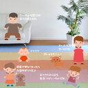 人間・環境にやさしい抗ウィルス・抗アレルゲン・防ダニ・消臭・抗菌効果あり!ポップでかわいいカーペット 261×352cm(江戸間6畳絨毯)大判長方形 ペンタコン 花粉対策 3