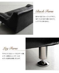 【送料無料】ローソファヴィンテージブラックモダンロースタイル【RCP】10P01Mar16
