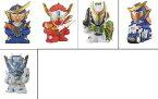 仮面ライダーキッズ■仮面ライダー鎧武登場!!編■5種セット(5.ウィザード、1.鎧武、2.バロン、3.斬月、4.鎧武&サクラハリケーン)■バンダイ■食玩■指人形■ミニソフビ