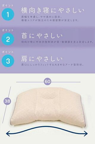 枕横向き東京西川洗えるパイプまくら横向き寝用枕横寝サポート