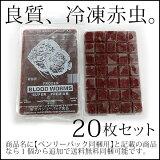 (送料無料※冷凍宅配)ベンリーパック食品 冷凍赤虫(あかむし)100g×20枚(沖縄・北海道・離島不可)メーカー直送/福岡からではなく大阪から発送